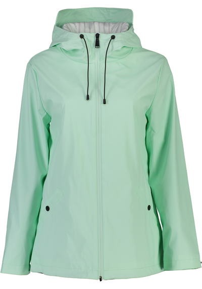 Moke Mel Ladies Short Rain Jacket RJ021 in Mint
