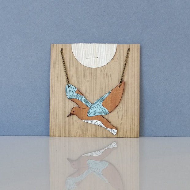 Natty Seagull Necklace J70