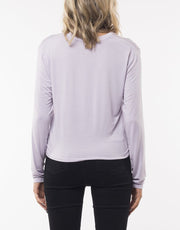 Silent Theory Twined Long Sleeve Top in Lavender