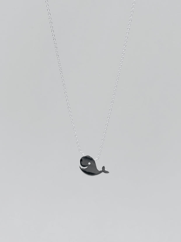 Some Sterling Silver Kids Whale Necklace 837