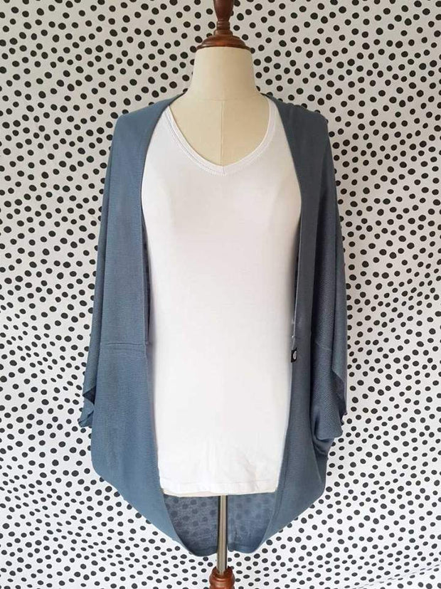 Hello Friday Flo Cardi in Denim 245