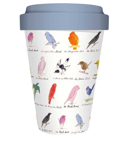 Museums & Galleries - Edward Lear Birds - Bamboo Travel Mug