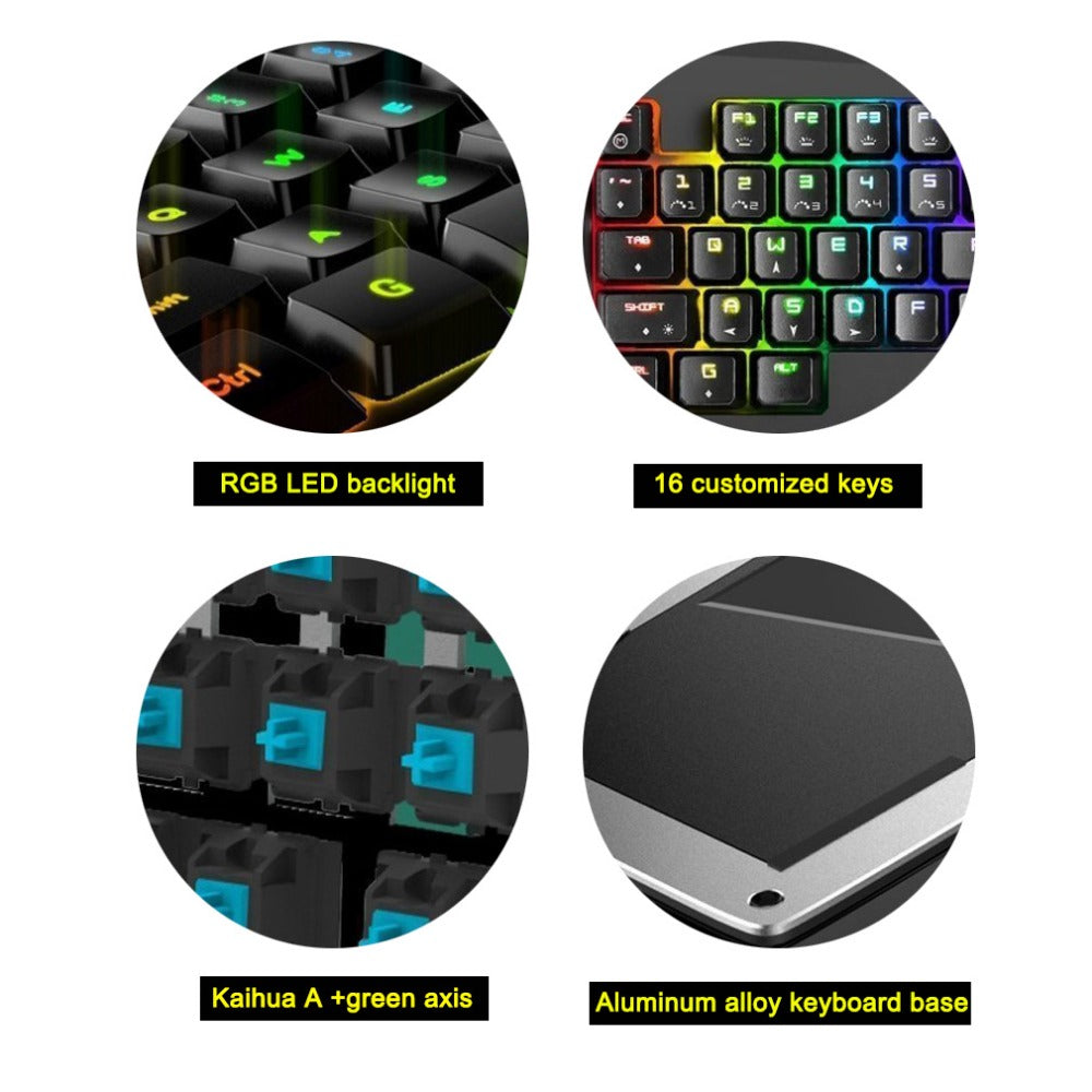 Mini Professional Mechanical Gaming Keyboard - RGB Backlit