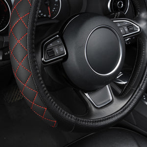 Super Luxury Leather Car Steering Cover