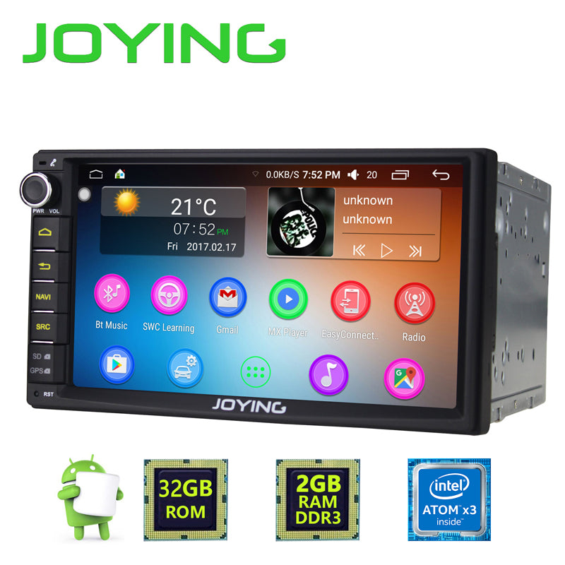 Android 6.0 Head Unit 2GB RAM 32GB Storage - 2017 Version