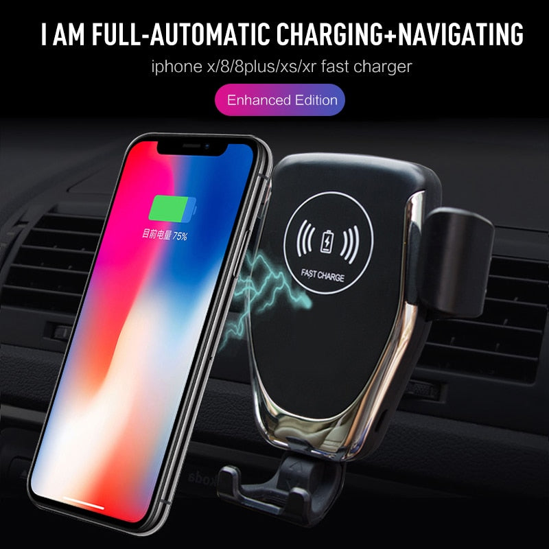 420b650525 2 In 1 Phone Holder Built-in Wireless Charger