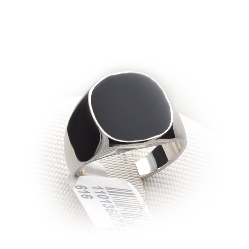 Italina Black Enamel Ring