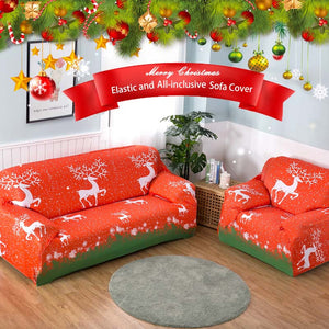 Stretchable Sofa Cover - Merry Christmas Edition