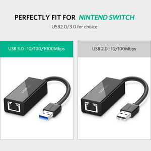 Ugreen Ethernet LAN Adapter USB 3.0 2.0 for Nintendo Switch