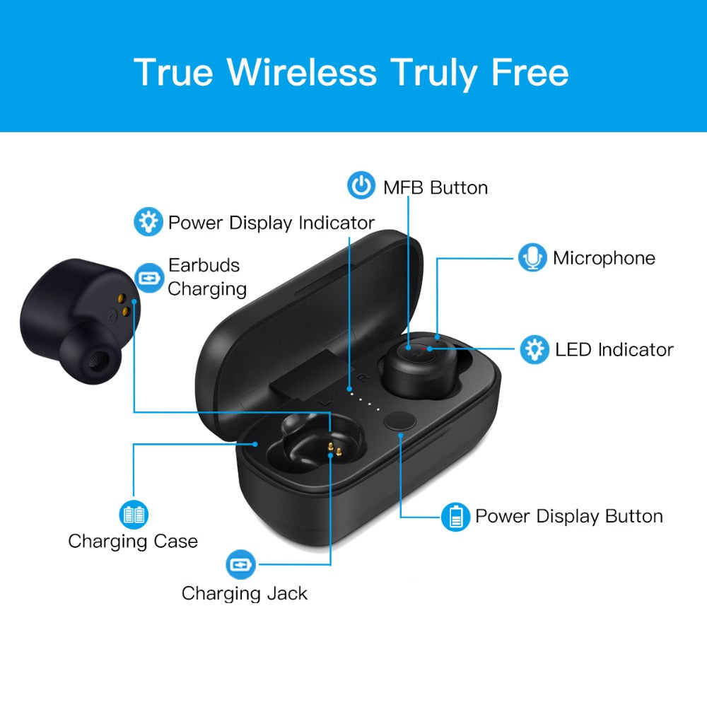 Smart Pods 2™ with Bluetooth 5.0 & IPX5 Waterproof