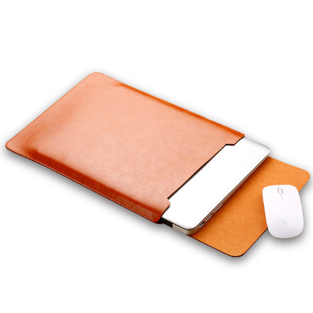 Macbook Air & Pro Leather Sleeve Cover Case Bag