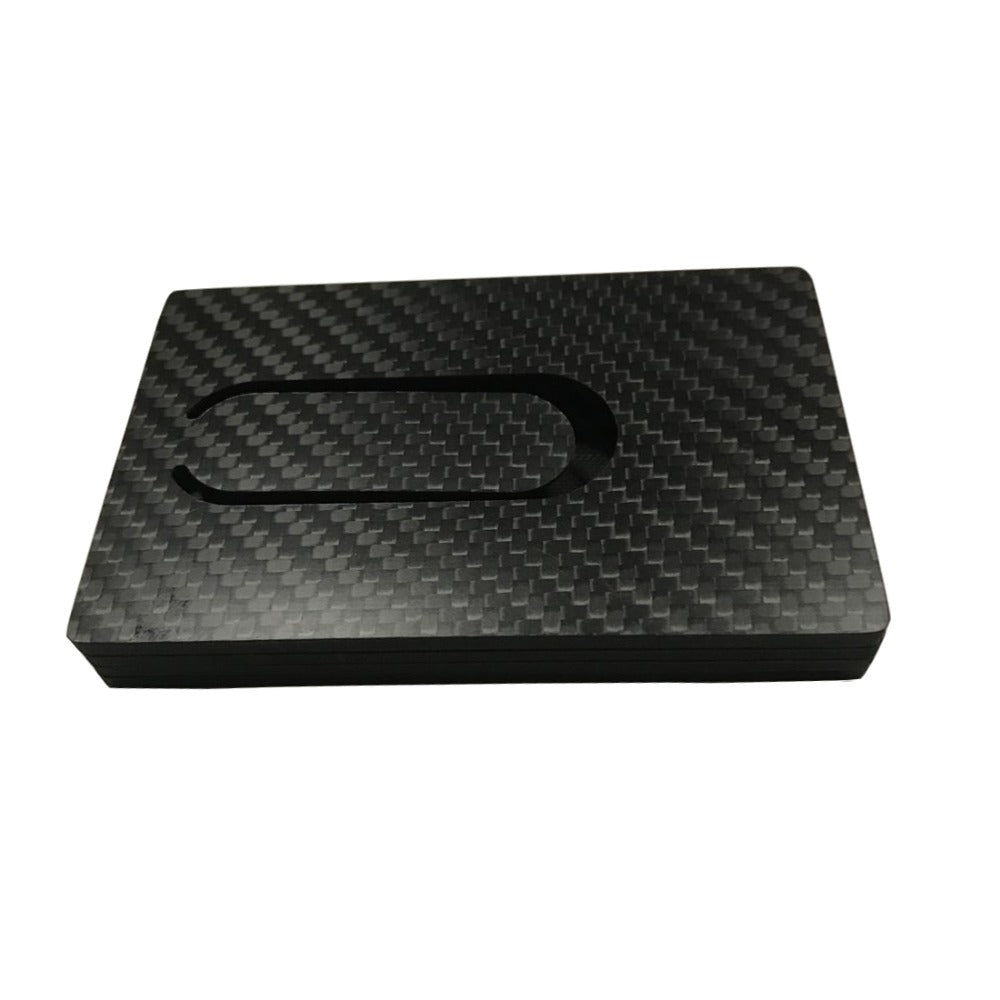 Carbon Fiber Magnetic Wallet Card Holder - Anti RFID Card Holder
