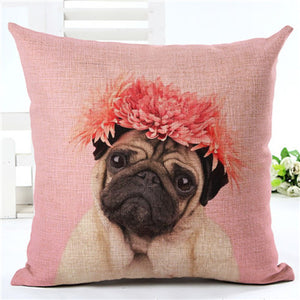 Pillow Cover - Pug Edition