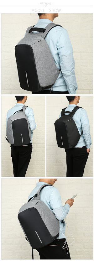 Multifunctional Anti-Theft USB Charging Men 16inch Laptop Backpack