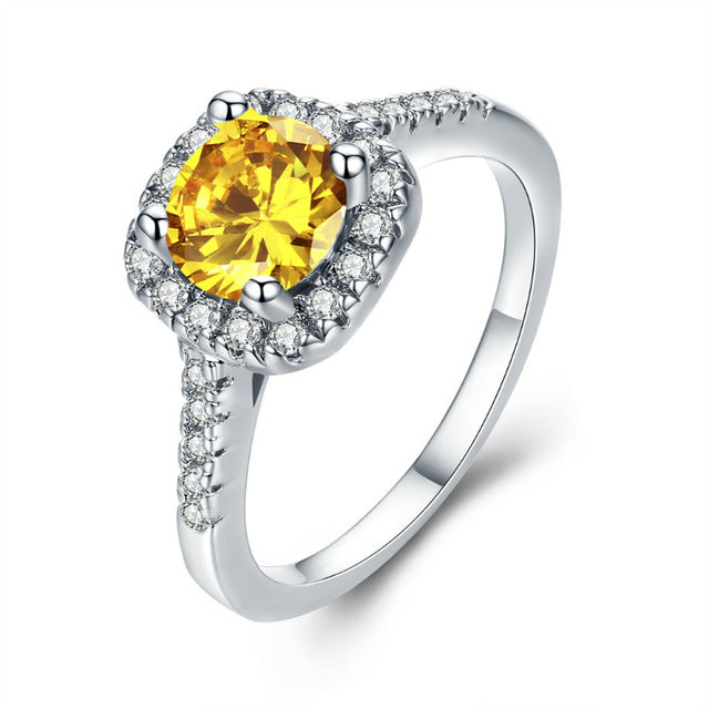 Zirconia Engagement Ring