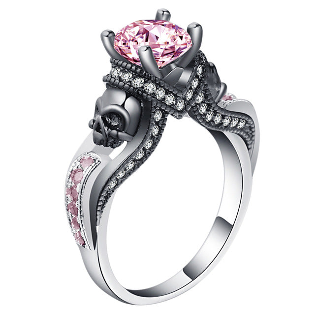 High Quality Cubic Zirconina Skull Ring
