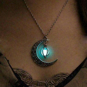 Moonstone Charm Necklaces - Glow in the dark