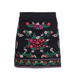 Vintage Embroidery Floral Skirts