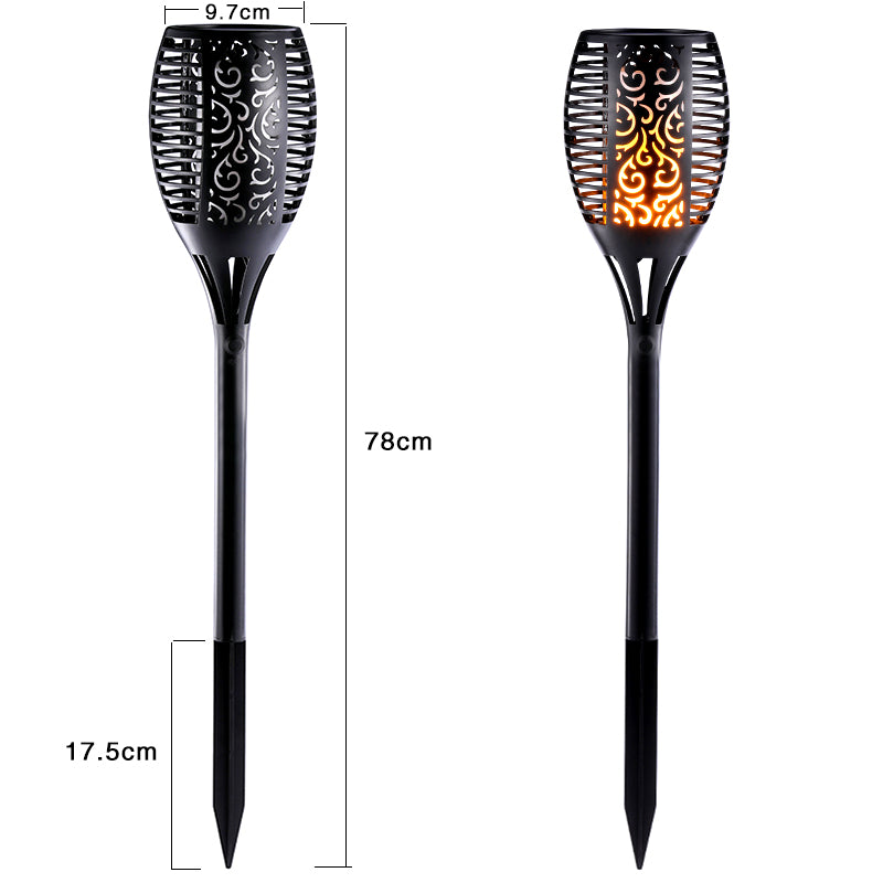 Garden Solar Lamp (2pack) - Waterproof Dancing Flame Torch - 50% OFF