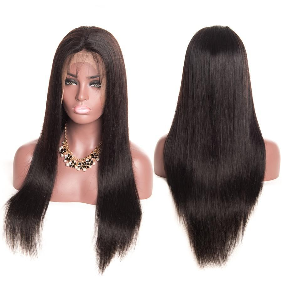 Brazilian Straight Pre Plucked Full Lace Wigs - Non Remy Hair
