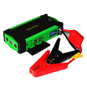 Car Jump Starter Power Bank 600A - 16000mah with seatbelt cutter, window breaker & 4 smart charging port
