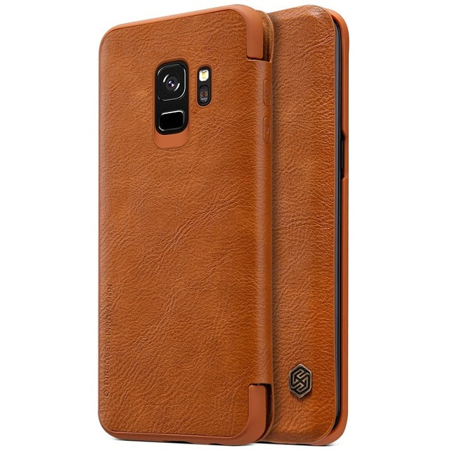 Samsung Galaxy S9 & S9 Plus Leather Case Cover