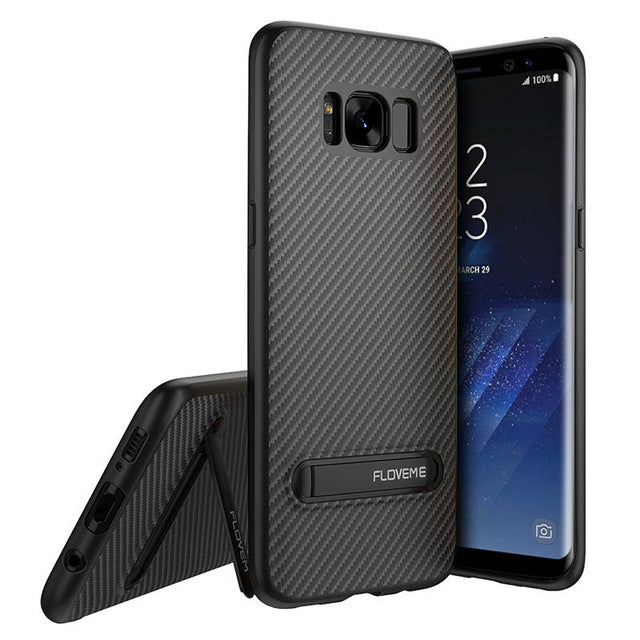 Samsung Galaxy S9 & S9 Plus TPU Kickstand Carbon Case