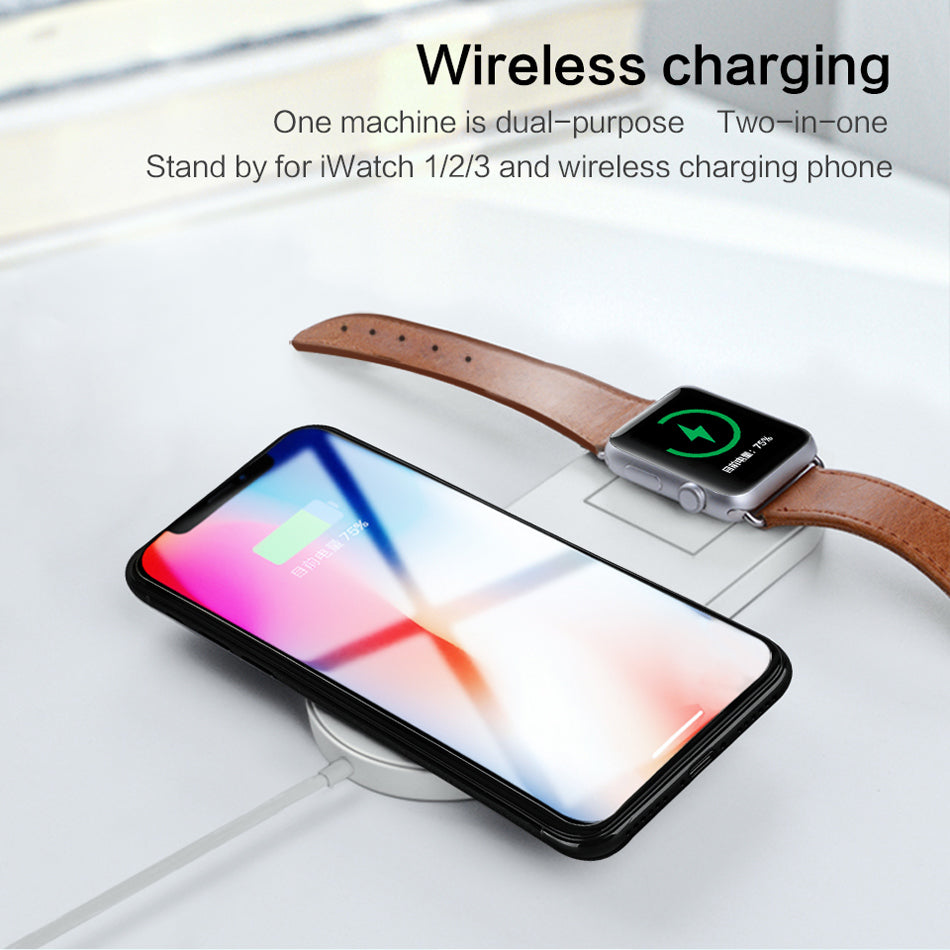 Wireless Charger for iPhone 8, X and Apple Watch (iPower)