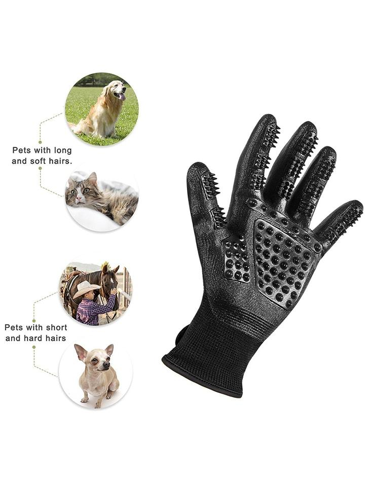Pet Hair Removal Glove Dog Cat Grooming Cleaning Deshedding