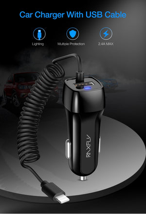 Premium USB Quick Car Charger For Apple & Android