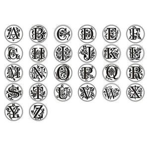 ALPHABET LETTER STAMP - A to Z wax stamp seal