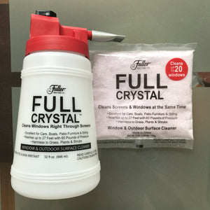 Full Crystal Window Cleaner - Outdoor Surface Cleaner