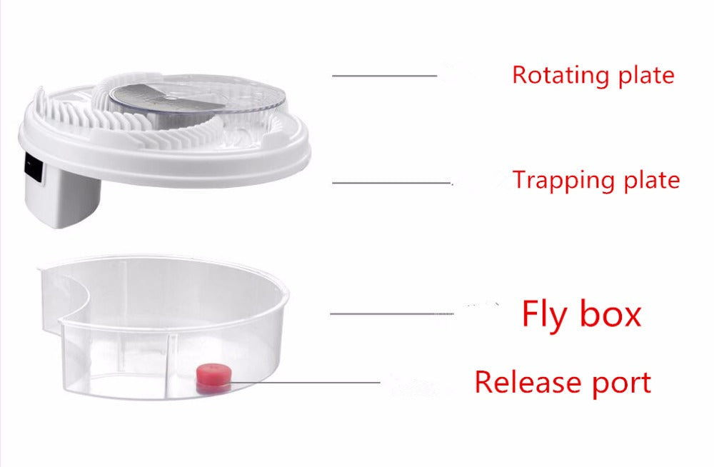 Revolving Electronic Fly Trap Device - Rotating Fly Trap