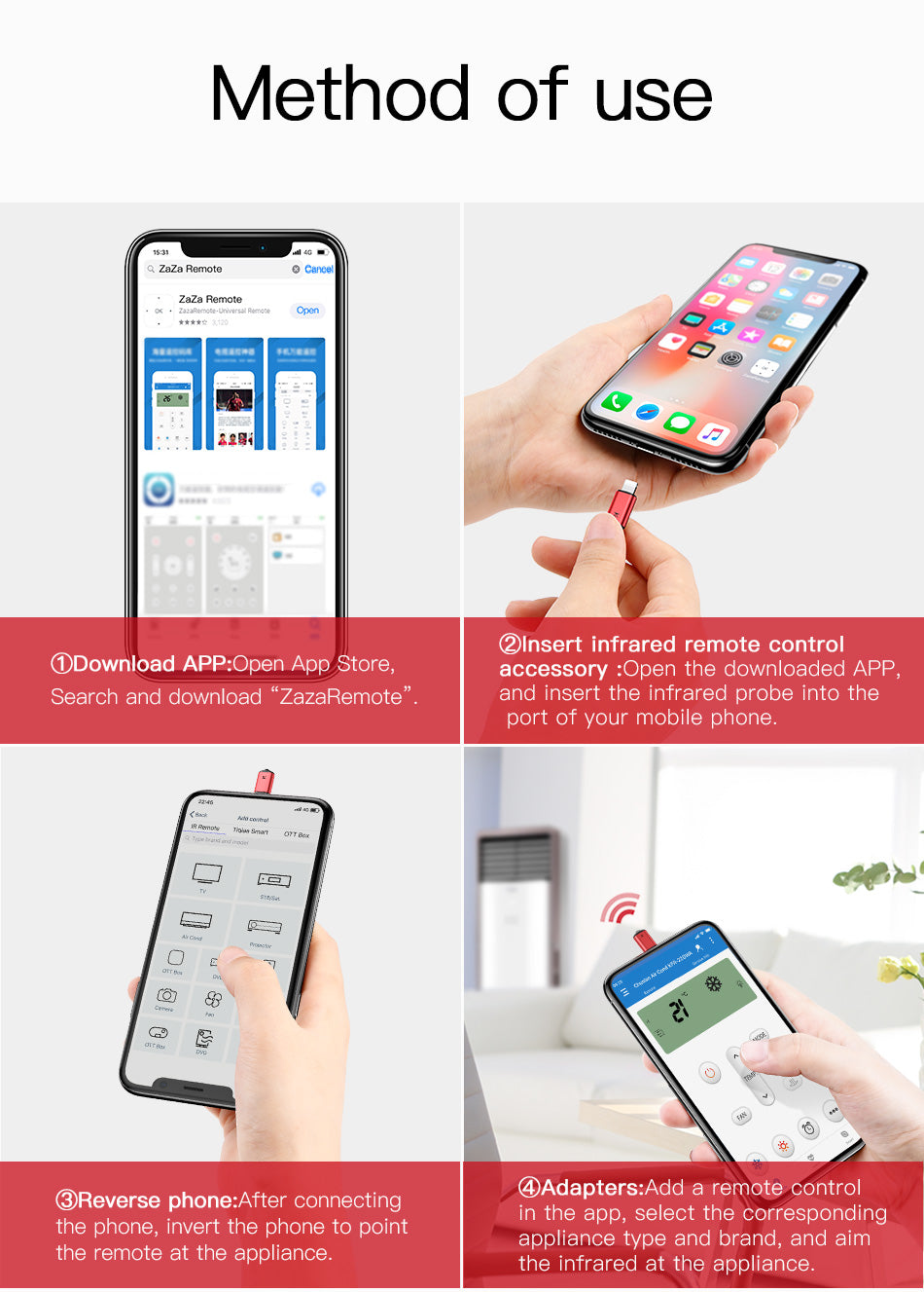 Infrared Blaster For iPhone X, 8,8 plus, 7, 7 plus