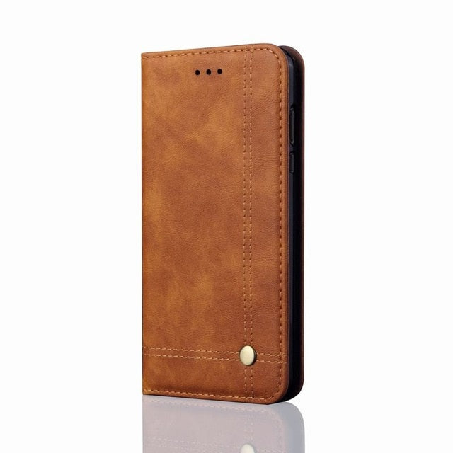 iPhone XS XR XS Max Luxury Leather Wallet Case Cover