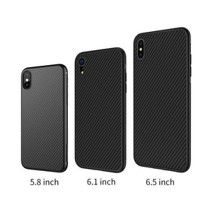 Synthetic Carbon Fiber Case for iPhone Xs, Xs Max & Xr