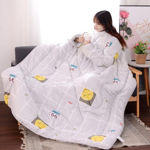 Winter Lazy Quilt with Sleeves