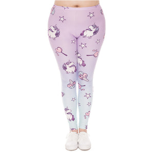 Plus Size Leggings - Unicorn Dream