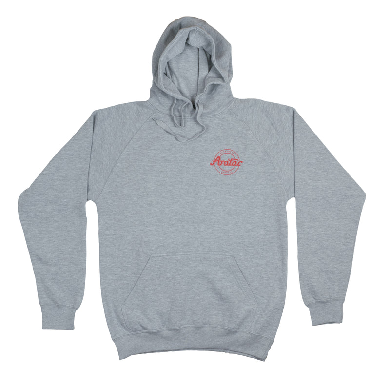 Authentic Apparel Hoodie Grey/Red