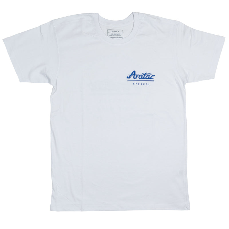 Aratac Apparel T-Shirt White/Royal