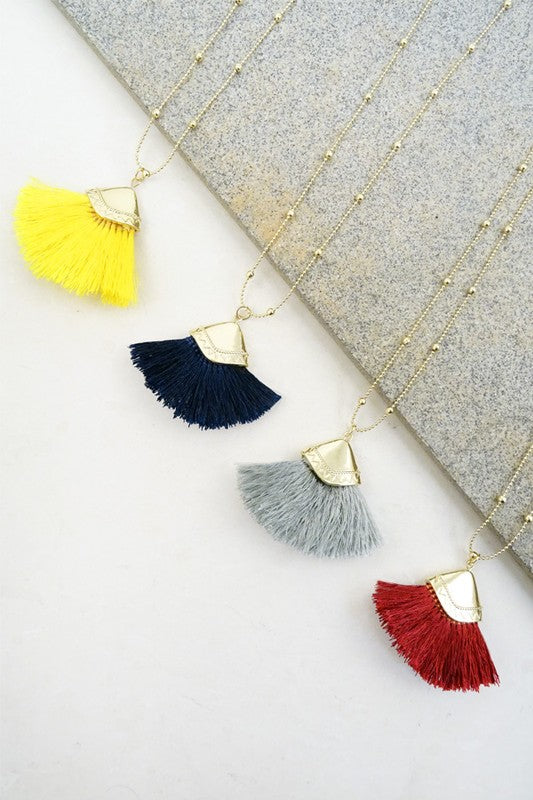 Fanned and Fancy Tassel Necklace