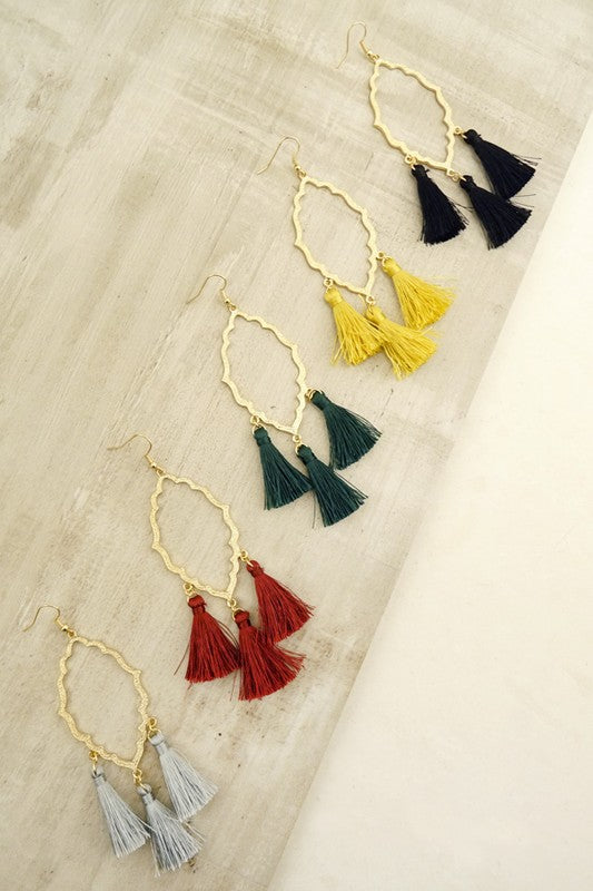 Triple Tassel Dream Earring