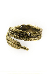 Metal Feather Wrap Ring