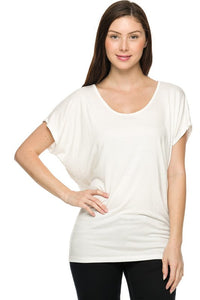 Lace Back Dolman Tee