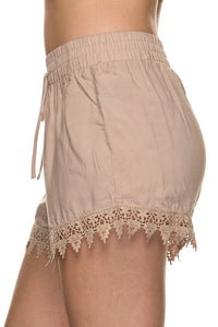 Lace Accent Shorts