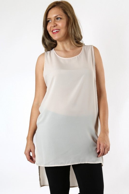 Hi-Low Tunic Tank