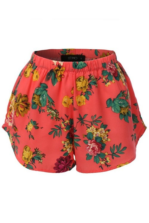 In Full Bloom Shorts Coral