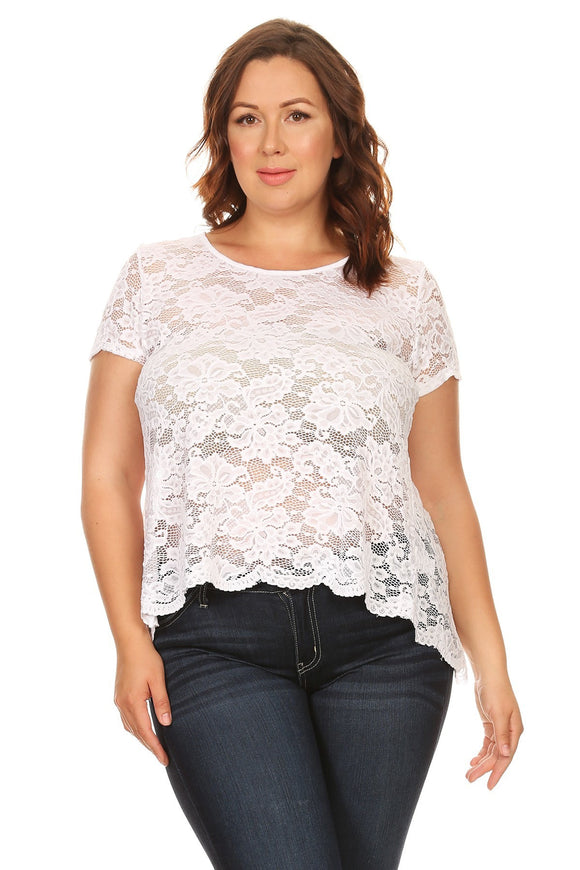 Lovely in Lace Scoop Neck Tee