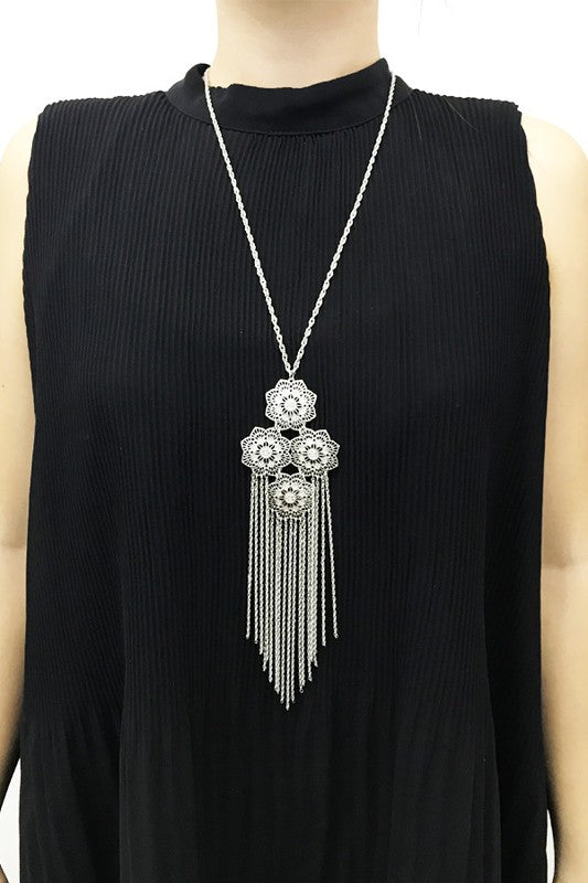 BoHo Fringe Statement Necklace
