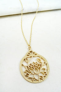 My Lovely Lotus Necklace